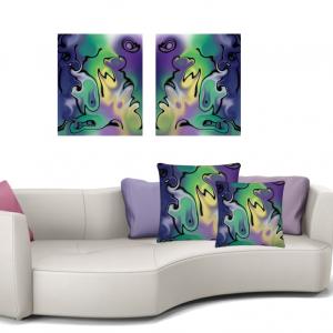 Wall Art & Pillows Display